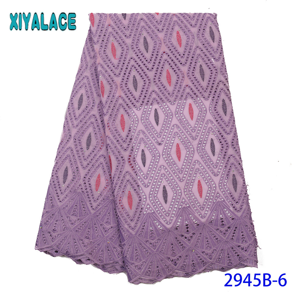 2019 Latest Swiss Voile Lace Cotton,Nigerian Lace Voile Fabric 2019 High Quality Lace,hot Selling Products For Dresses KS2945B-6