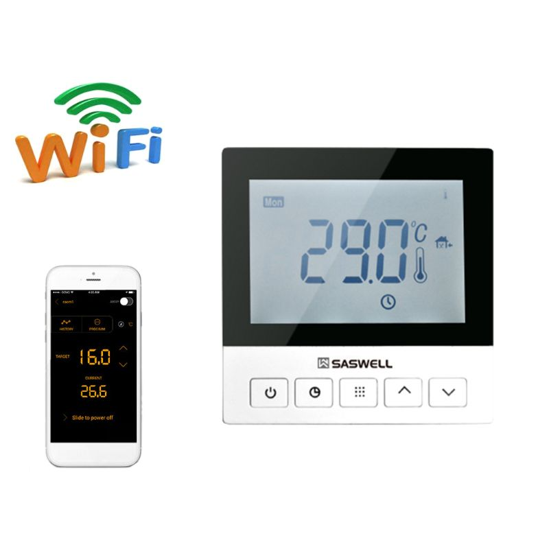 WiFi Thermostat APP Electric Heating Room Floor Programmable Temperature Control
