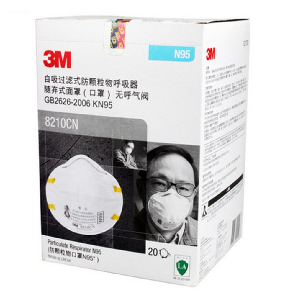 3M 8210 N95 Mask for Protection from Dust Particles and Flu with Adjustable Metal Nose Clip 5