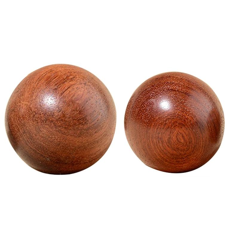 2x 6cm 5cm de madeira estresse baoding bola saude exercicio andebol dedo massagem saude chinesa meditacao