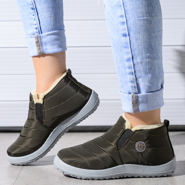 2020 winter boots women waterproof snow women shoes flat Casual Winter Shoes Ankle Boots for Women plus Size Couple shoes 3