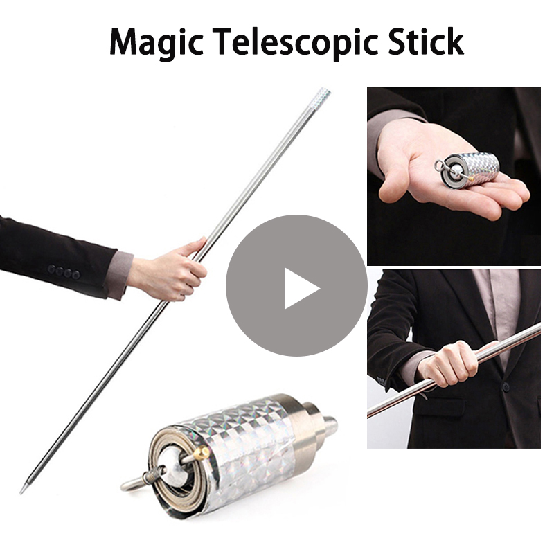 1PCS 110cm/150cm Protection Appearing Cane Silver Cudgel Metal Magic Tricks Profession Magician Stage Street Close Up Illusion