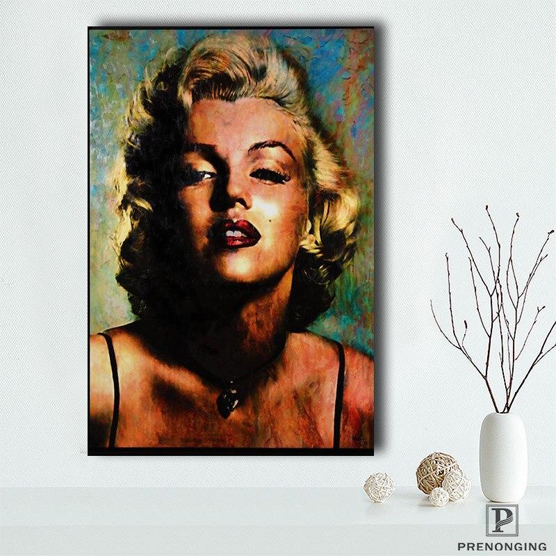 Cartaz da lona Tecido De Seda PL #192 Personalizado Marilyn Monroe Decoração de Casa moderna Para O Quarto Poster Poster do Tamanho @ 190414-S-01