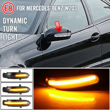 Para mercedes benz classe c w203 s203 cl203 2001 - 2007 led dinâmico turn signal luz lateral espelho blinker sequencial lâmpada