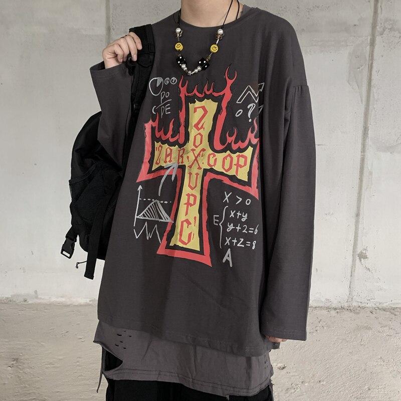 100% хлопок модная мужская футболка с принтом Креста летние