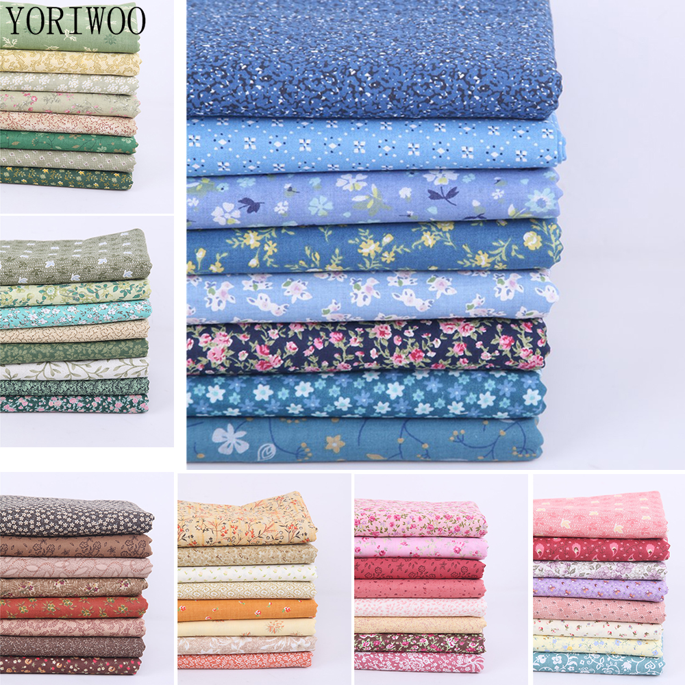YORIWOO 26x24cm 8pcs Printed Cotton Fabric Cloth Floral Sewing Quilting Patchwork Needlework Craft DIY Doll Handmade Accessories(China)