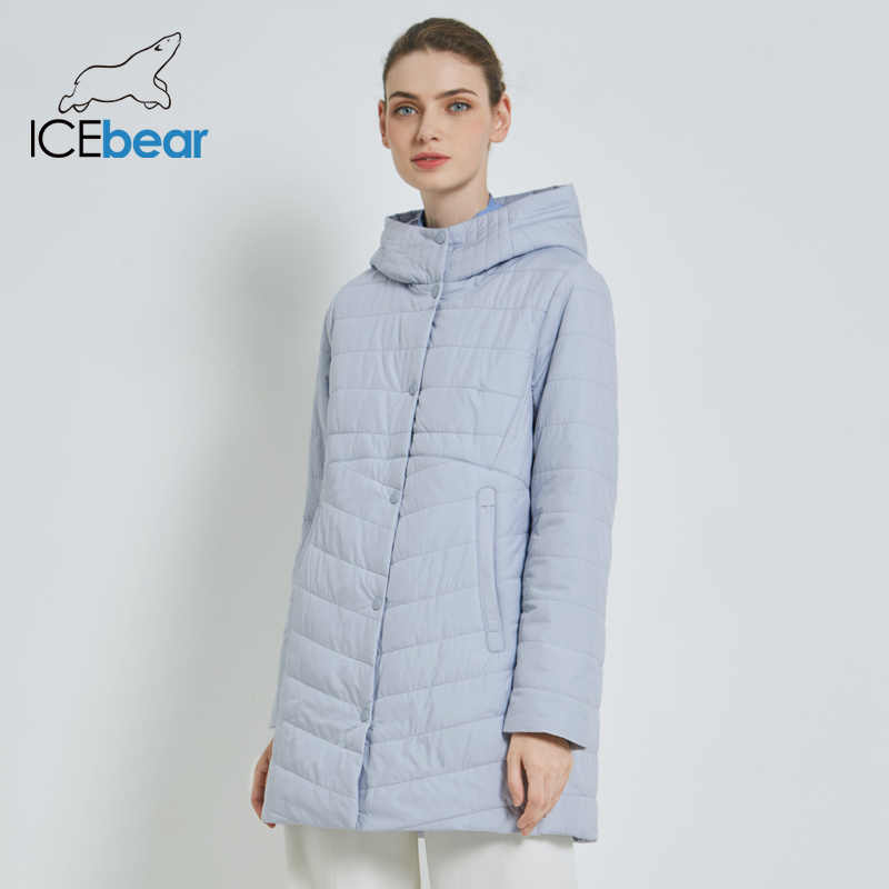 ICEbear 2019 New Women's Jacket Autumn Casual Woman Hooded Jacket High Quality Female Coat GWC19055I