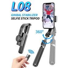 Bluetooth Handheld Gimbal Stabilisator Handy Selfie Stick Halter Einstellbar Selfie Stand Für iPhone/Huawei/Xiaomi/Samsung