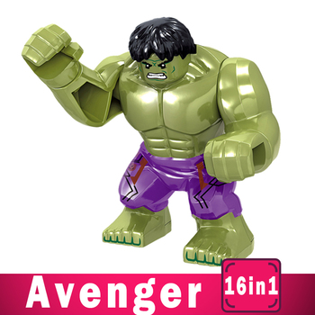 цена на Super Heroes Blocks Avengers League Toys Marvel DIY Figures Superman Iron man Captain Thor Building Blocks Bricks Toys Kits