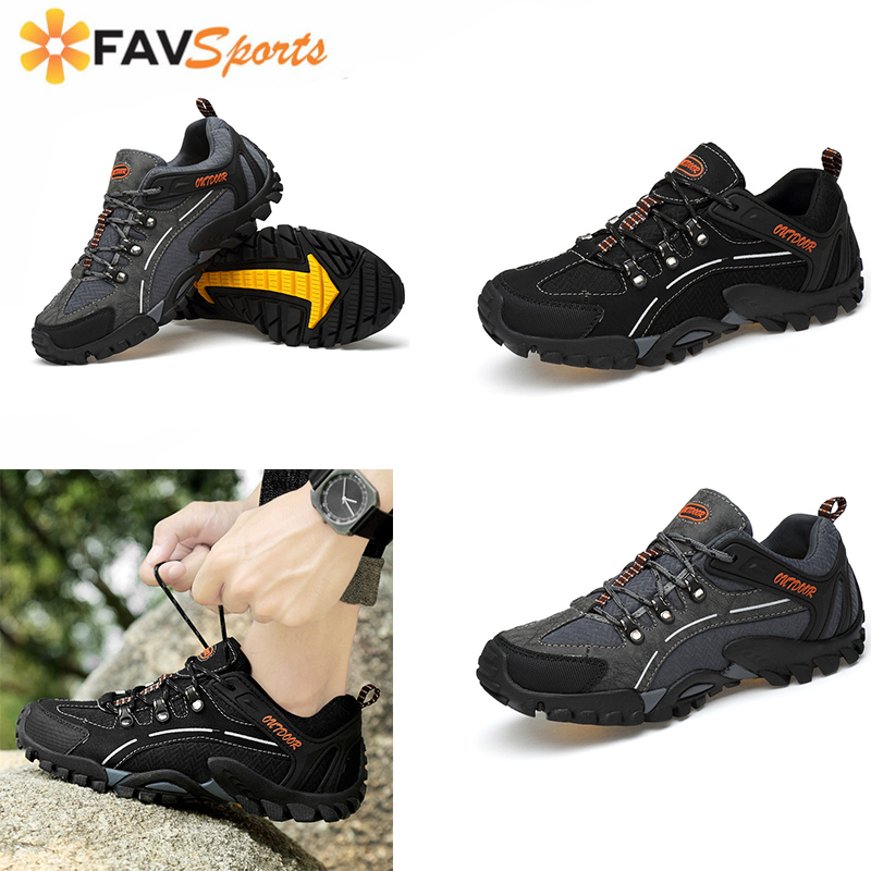 2019 New Non-Slip Hiking Shoes Mountain Climbing Shoes Outdoor Tactical Boots Trekking Sport Sneakers Men Hunting Trekking