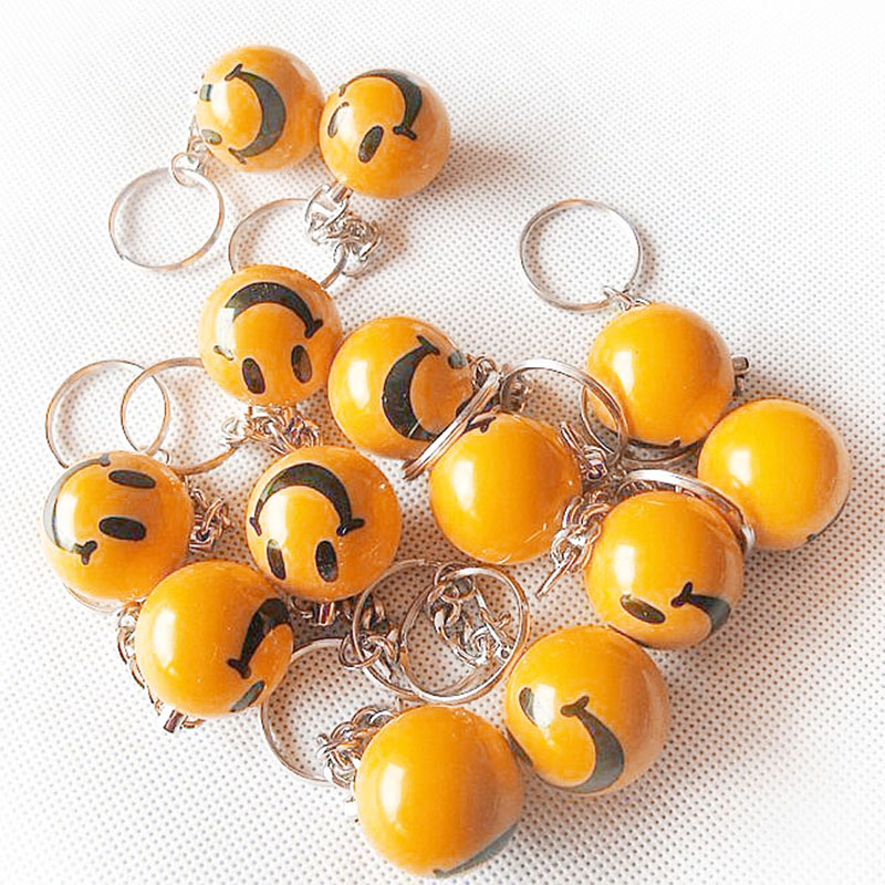 16pcs Lot Pool Billiard Keyring Ball Smile Style Keychain Key ring 1