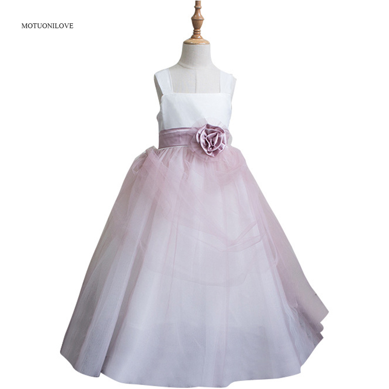 Girl Princess Birthday Ball Gown Straps Flower Girl's Wedding Party Dress Special Occasion Dresses For Little Girls Baby Kids