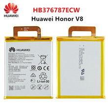 Hua Wei 100% Orginal HB376787ECW 3500mAh Battery For Huawei Honor V8 HB376787ECW Replacement Batteries недорого