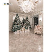 Laeacco Merry Christmas Photography Backgrounds Customized Party Portrait Interior Photographic Backdrops For Photograph Studio polyester merry christmas room gifts photography backdrops for party photo studio portrait backgrounds props s 2626