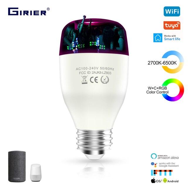 E27 akıllı Wifi LED ampul 7/9W WCRGB Tuya akıllı kısılabilir lamba ampul rengi değişen müzik ile uyumlu alexa Google ev ile