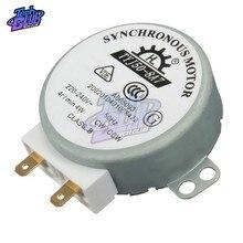 Ac 220v-240v 50hz cw/tabela giratória da micro-ondas ccw eixo síncrono do motor TYJ50-8A7 d 4 rpm