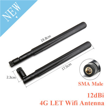 4G LET Wifi Antenna 12dBi Ad Alto Guadagno SMA Maschio Antenna Omnidirezionale Router 700-2700MHz Modem per 3G 4G GSM GPRS