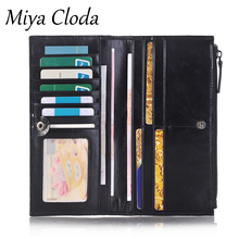 Leather business card holder men's long business large-capacity card package multi-card business card holder mini card holder