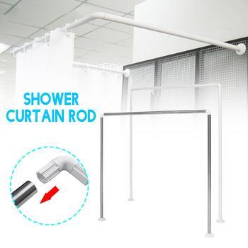 Stal nierdzewna stop aluminium L U kształt regulowana łazienka karnisze prysznicowe zakrzywiona prowadnica łazienka Bar do 20KG łożyska tanie i dobre opinie Meigar Metal Ze stopu aluminium ze stopu aluminium Ekologiczne Zaopatrzony Filar SKUD58337