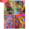 HUACAN DIY Diamond Painting 5D Leopard Full Square/Round Mosaic Animal New Arrival Embroidery Home Decor Diamond Art