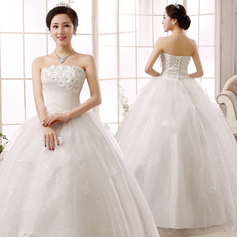 2019 Rushed Robe De Cocktail Courte Wedding Dress 2020 Summer Autumn Korean New Bridal Flower Lace Strap Bra With Thin And Slim