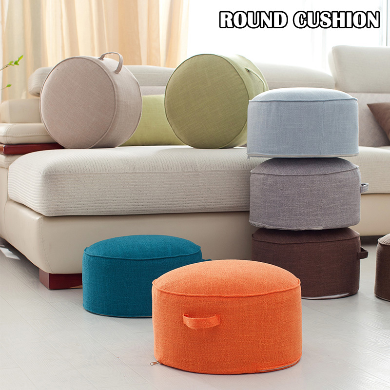 Round Floor Seat Cotton Linen Cushion Meditation Mat Removable Washable Cushion  TT-best