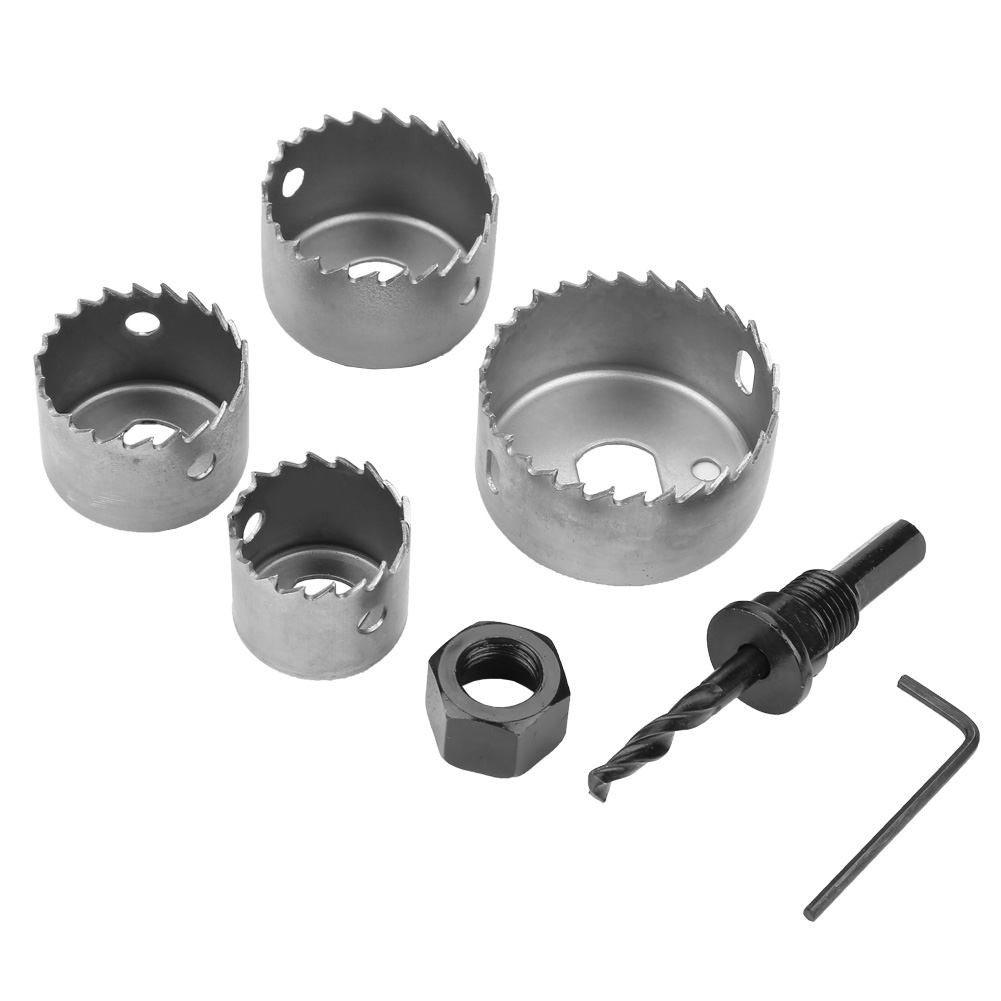 1 Set 32/38/44/54mm High Carbon Steel Hole Saw Drill Bit Cutter For Woodworking Wood Metal Drilling Cutting Carpentry Crowns Set
