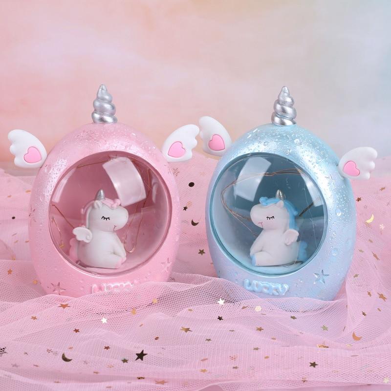 Cartoon Animal LED Night Light Resin Unicorn Novetly Lamps Bedroom Decor Lamps Baby Night Lamp Christmas  Birthday Gift Children