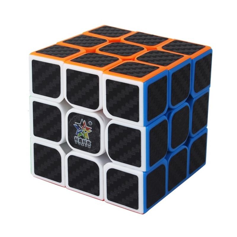 Yuxin 3x3 magic cube preto adesivo de