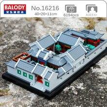 Balody – Mini blocs de diamant en briques, jouet de construction pour enfants, Architecture du monde, maison ancienne de cour, modèle d'arbre, sans boîte, 16216