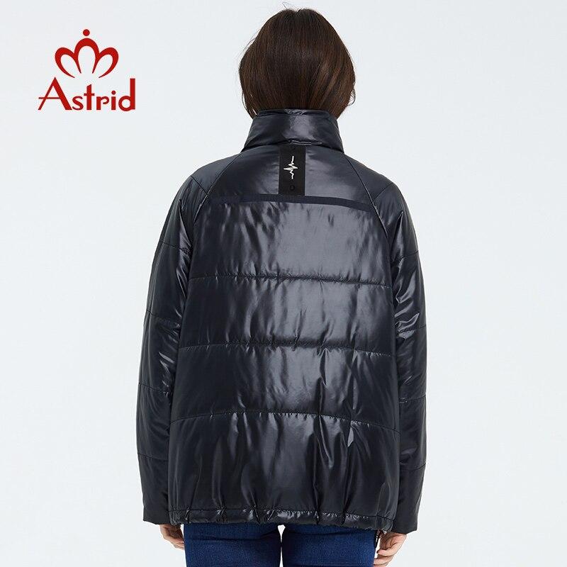 Astrid 2020 primavera mujer Parka marea marca abrigo cálido chaqueta delgada de algodón colores brillantes abrigo corto de pie Collar ZM-3053 - 3