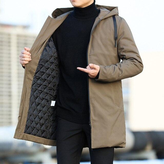 Men Jackets Autumn Winter Men's Trench Coat Men Casual Thicken Warm Hooded Jacket Male Windbreaker Outerwear Jaquet Man coat 6XL 6
