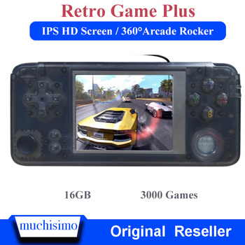 16GB RETROGAME Plus Handheld Game Console 64bit 3.0 inch LCD Built-in 3000 Games Portable Game Player