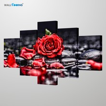 Canvas painting red rose Large HD Nordic image of wall art, modern home decor for living room, bedroom prints and posters