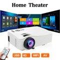 Светодиодный проектор 1080P Full HD мини проектор 640x480 телефон проектор 4k домашний кинотеатр Поддержка Android Ios для домашнего кинотеатра