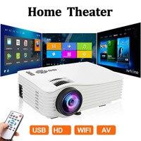 Projetor de led 1080 p hd completo mini projetor 640x480 telefone proyector 4k suporte para cinema em casa android ios para cinema em casa| |   -