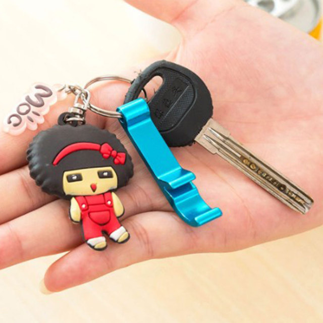 Multi-function can opener with key ring creative gift alloy opener