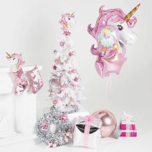 Unicorn Decoration Balloon Kids Happy birthday Christmas Decoration Balloons ornaments(China)