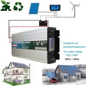 Image 2 - Zuivere Sinus Omvormer 12V/24V/48V/60V Naar 110V 220V 4000W 5000W 6000W Transformator Converter Pure Sinus Solar