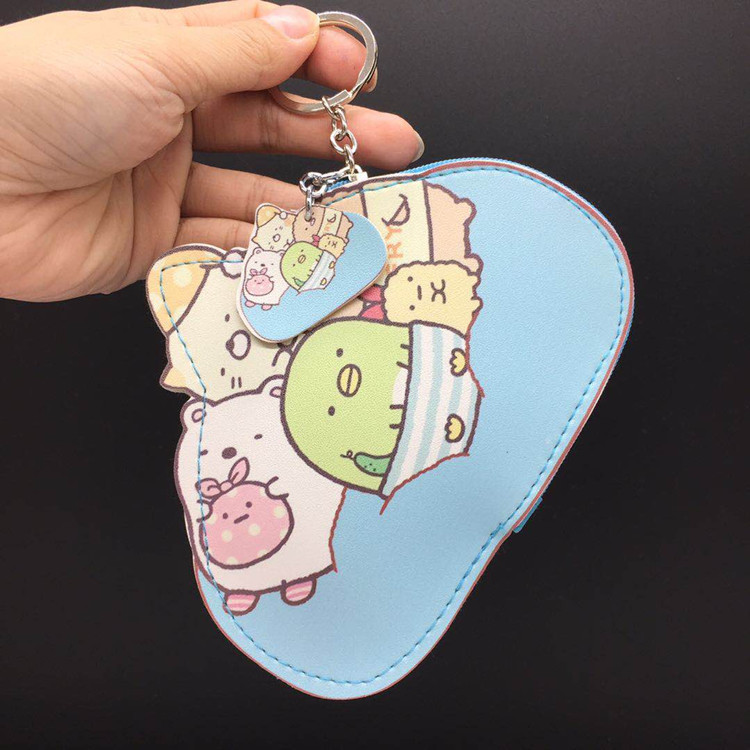 Biological Corner Mascot Modeling Purse Key Cartoon Polyurethane Card Holder Small Ornaments Handbag Pendant