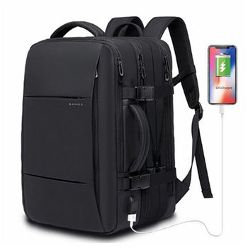 "Men's bag 17"" Laptop Backpack male Male Backpacks Business Notebook Waterproof Back Pack USB Charging Bags Travel Backpack"