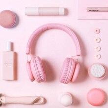 5.0 Bluetooth casque mignon rose bleu rouge couleur filles enfants stéréo musique casque sans fil avec Microphone pour ordinateur téléphone