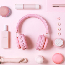 5.0 Bluetooth אוזניות חמוד ורוד כחול אדום צבע בנות ילדים סטריאו מוסיקה אלחוטי אוזניות עם מיקרופון עבור מחשב טלפון