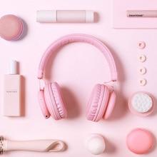 5.0 Tai Nghe Bluetooth Màu Hồng Dễ Thương Màu Xanh Đỏ Màu Bé Gái Trẻ Em Nghe Nhạc Stereo Không Dây Tai Nghe Có Mic dành cho Điện Thoại Máy Tính
