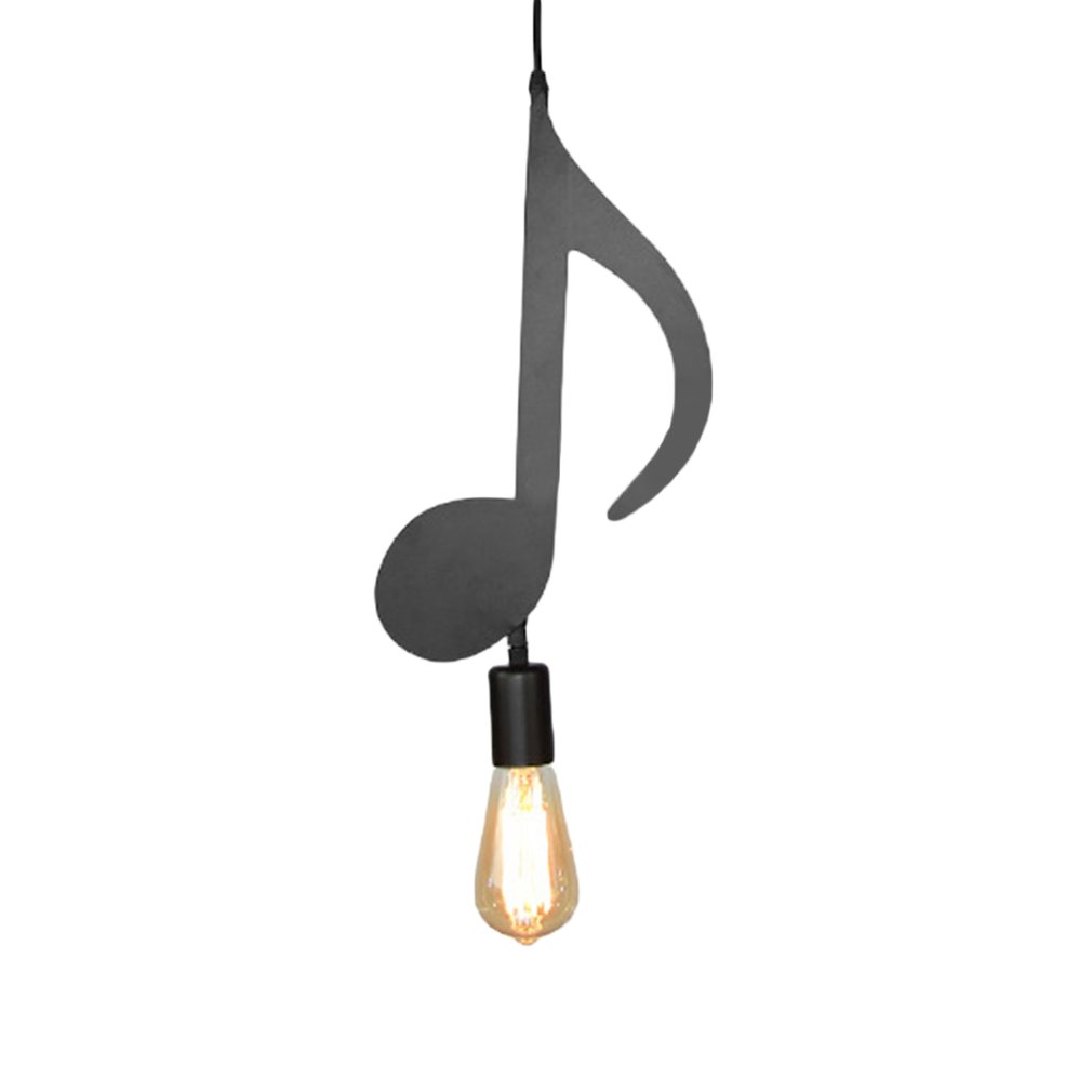 Modern Iron Music Character Notes E27 Creative Pendant Lamp Light for Bar bedroom Pendant Lighting