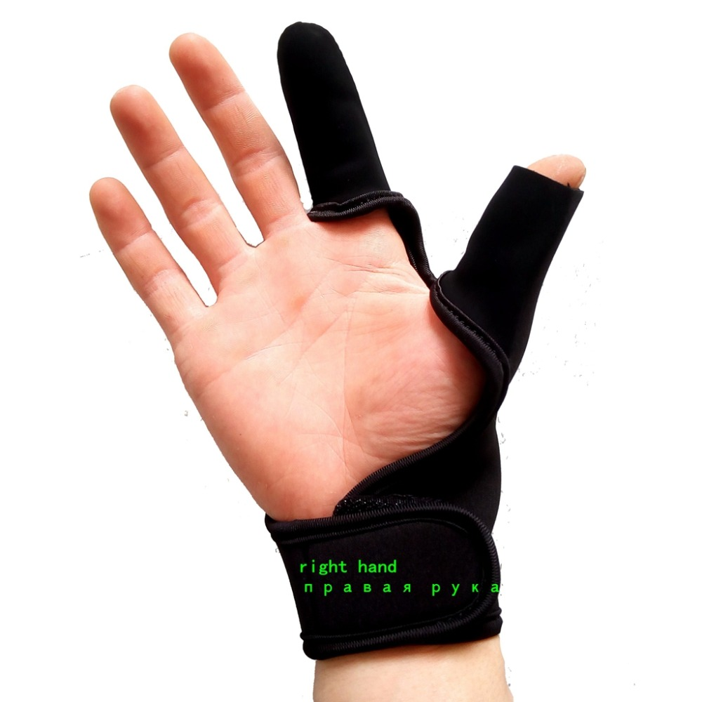 2 Durable waterproof fly neoprene Fishing Gloves half protector Anti-Slip Anti-cut Three finger slip anti cut rod wear HANGUO