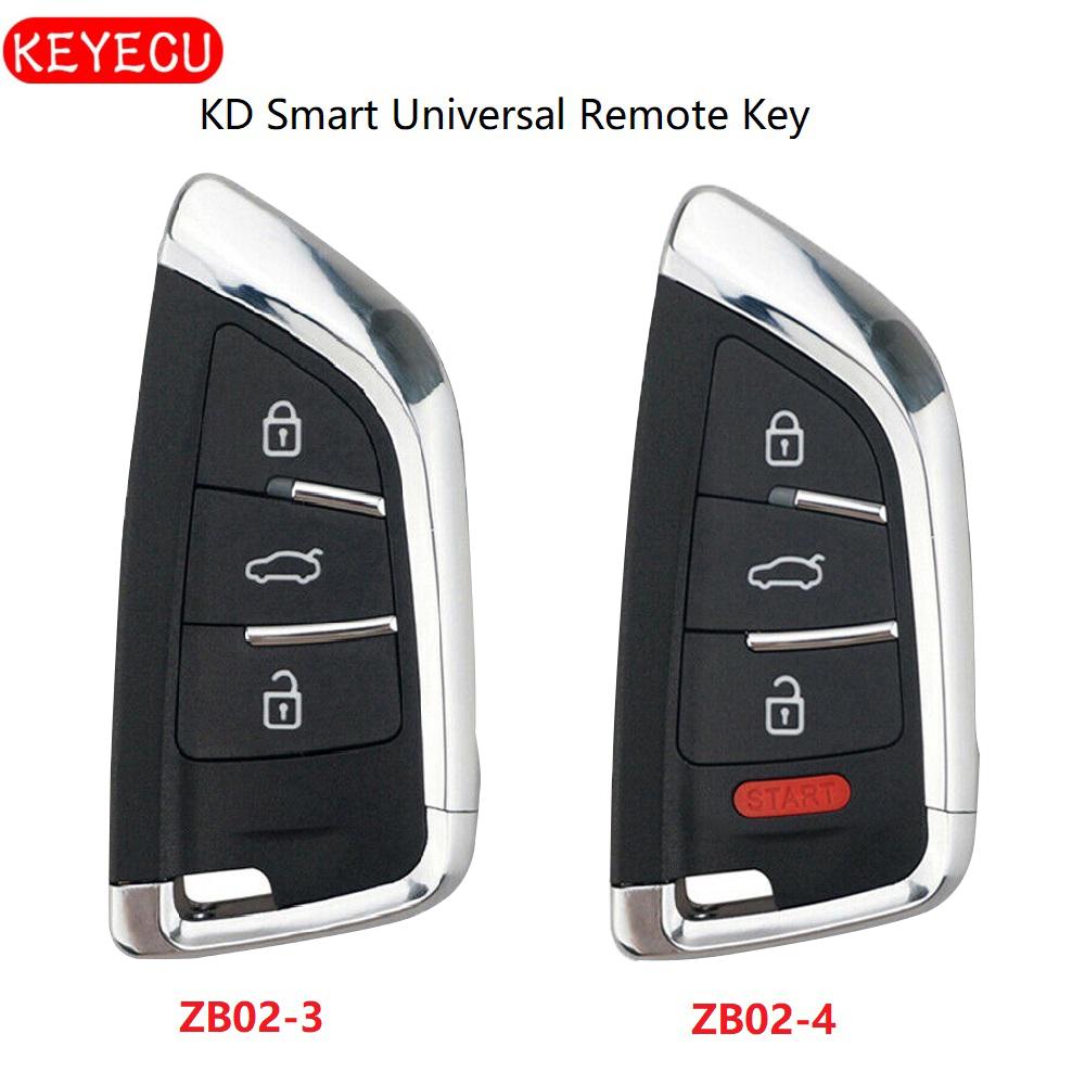 Keyecu Universal ZB02-3 ZB02-4 KD Smart Remote Key for KD-X2 KD900 Mini KD Car Key Remote Replacement Fit More than 2000 Models