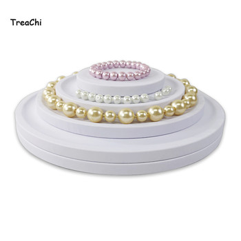 Creative Round Tower Soft PU Necklace Jewelry Display Holder Stand Grooved Bead Pear Necklace Display Organizer Groove Rack Tray
