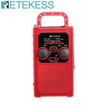 Retekess tr201 fm am noaa sos rádio de emergência portátil à prova dwaterproof água led iluminação manivela receptor rádio solar para acampamento