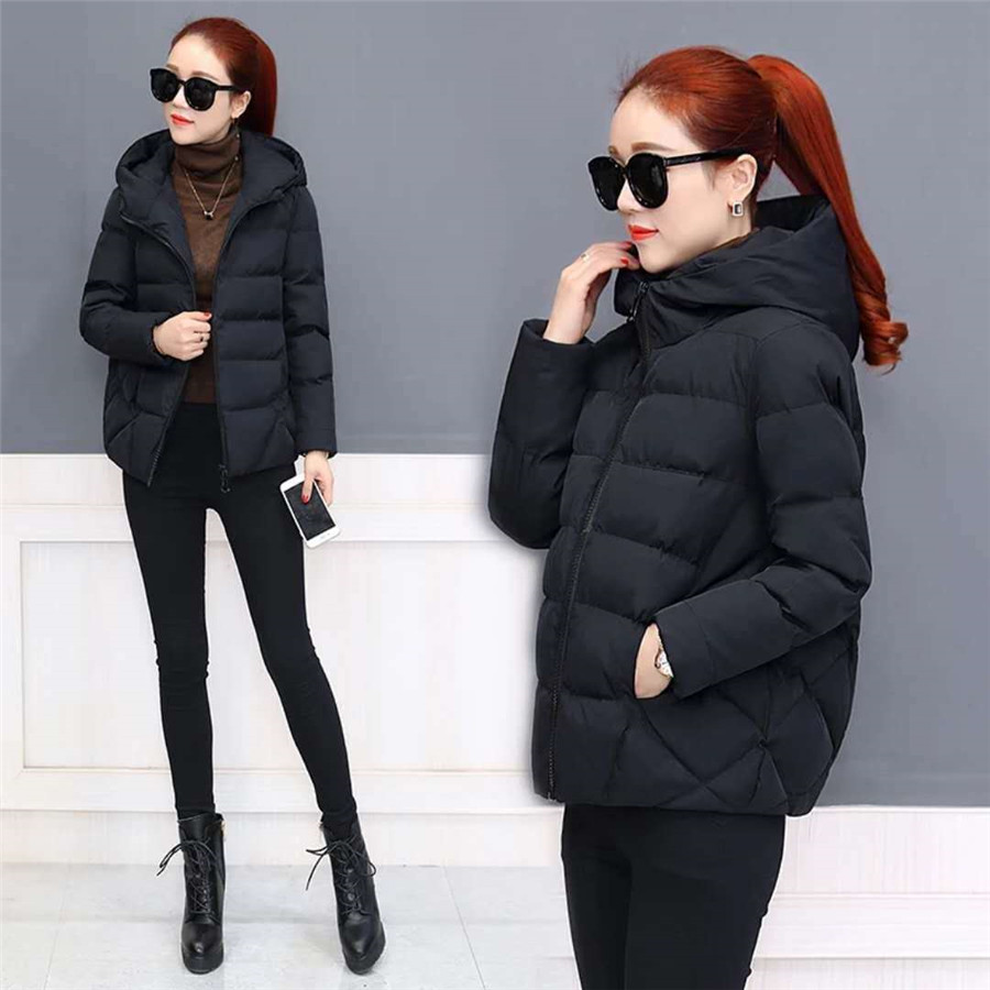 Autumn Winter Women short Jacket coats Large Size women's Winter Cotton thin coat Jackets Winter Female hoodies   Parkas